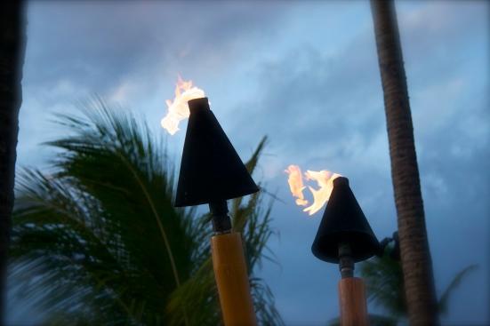 mainland kamaainas, torches, maui, hawaii