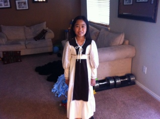 My daughter dressed for Pioneer Day